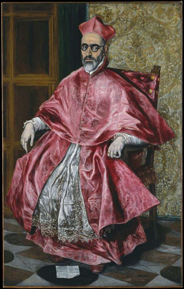 """El Greco's """"Cardinal Fernando Niño de Guevara, ca. 1600,"""" oil on canvas,67 1/4 x 42 1/2in. (170.8 x 108cm).The Metropolitan Museum of Art; H. O. Havemeyer Collection, Bequest of Mrs. H. O. Havemeyer, 1929. Photo: Greenwich Art Society / Contributed Photo / Connecticut Post Contributed"""