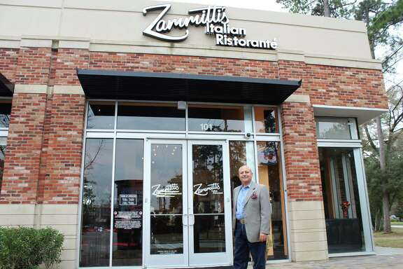 Owner Edgar Ghazal stands in front of the newly renovated Zammitti's Italian restaurant on Feb. 5, 2019.
