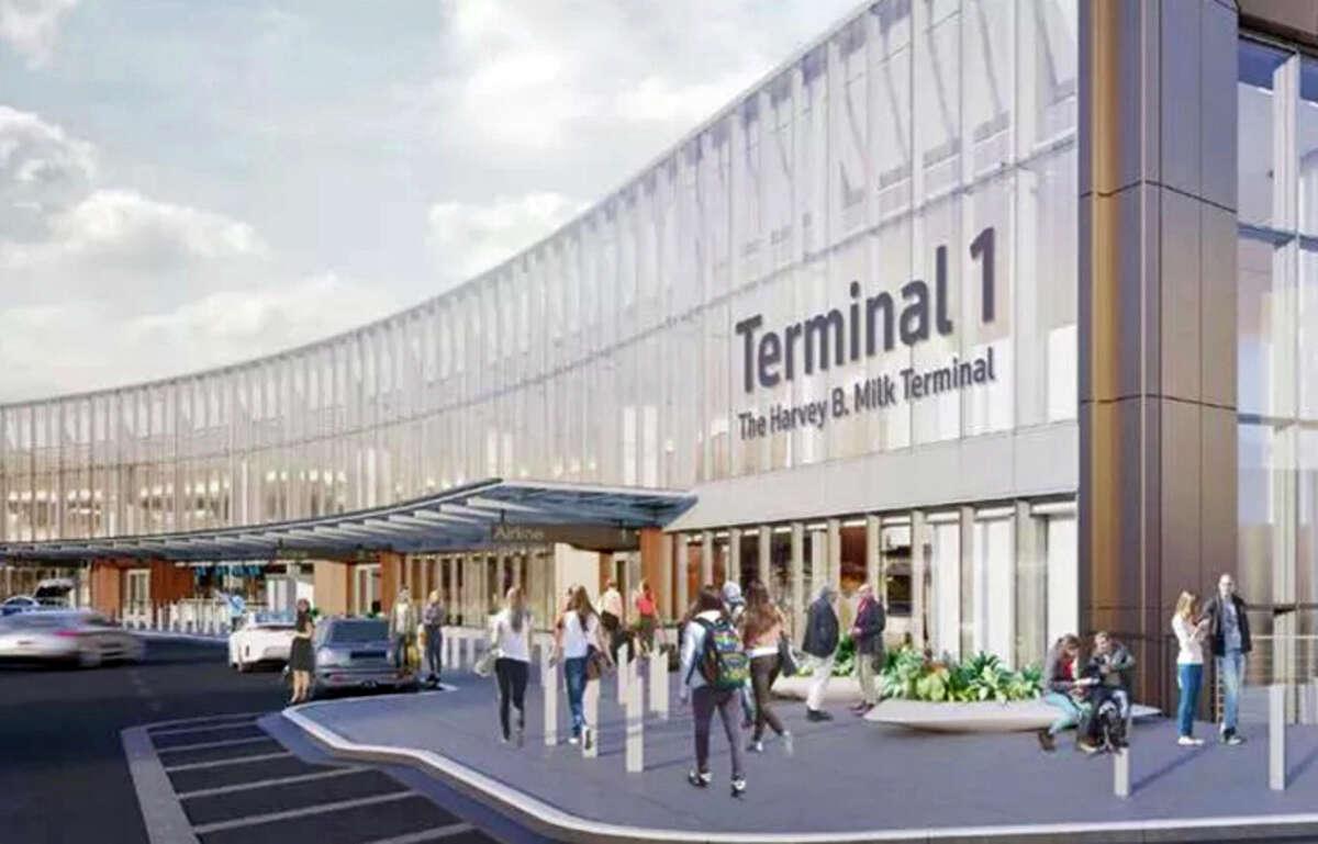 Rendering of SFO's new Terminal 1: Is Harvey Milk's name big enough?