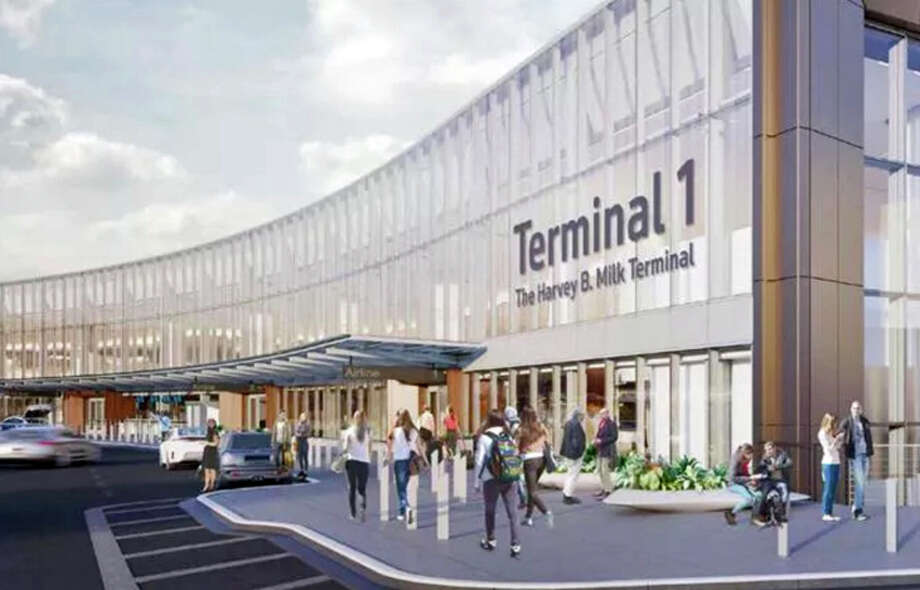 Rendering of SFO's new Terminal 1: Is Harvey Milk's name big enough? Photo: San Francisco International