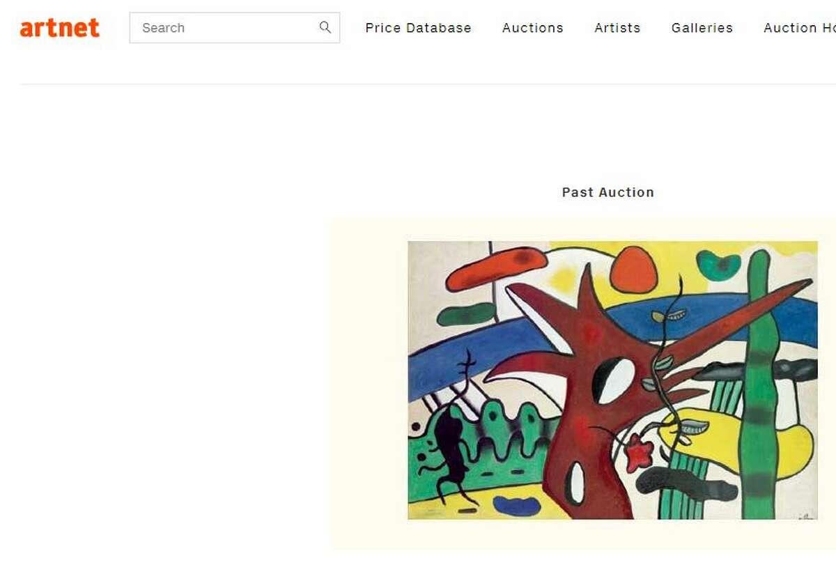 Paysage au coq rouge by Fernand Leger is valued at $1,284,015, reports abc13. (Image: artnet.com)