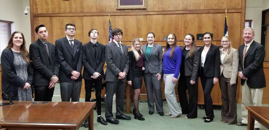 The new Montgomery High School Mock Trial Team has won regionals and is advancing to the state competition for the first time on Feb. 28 in Dallas, but they could use a little help from the community to get there. Photo: Submitted Photo / Submitted Photo