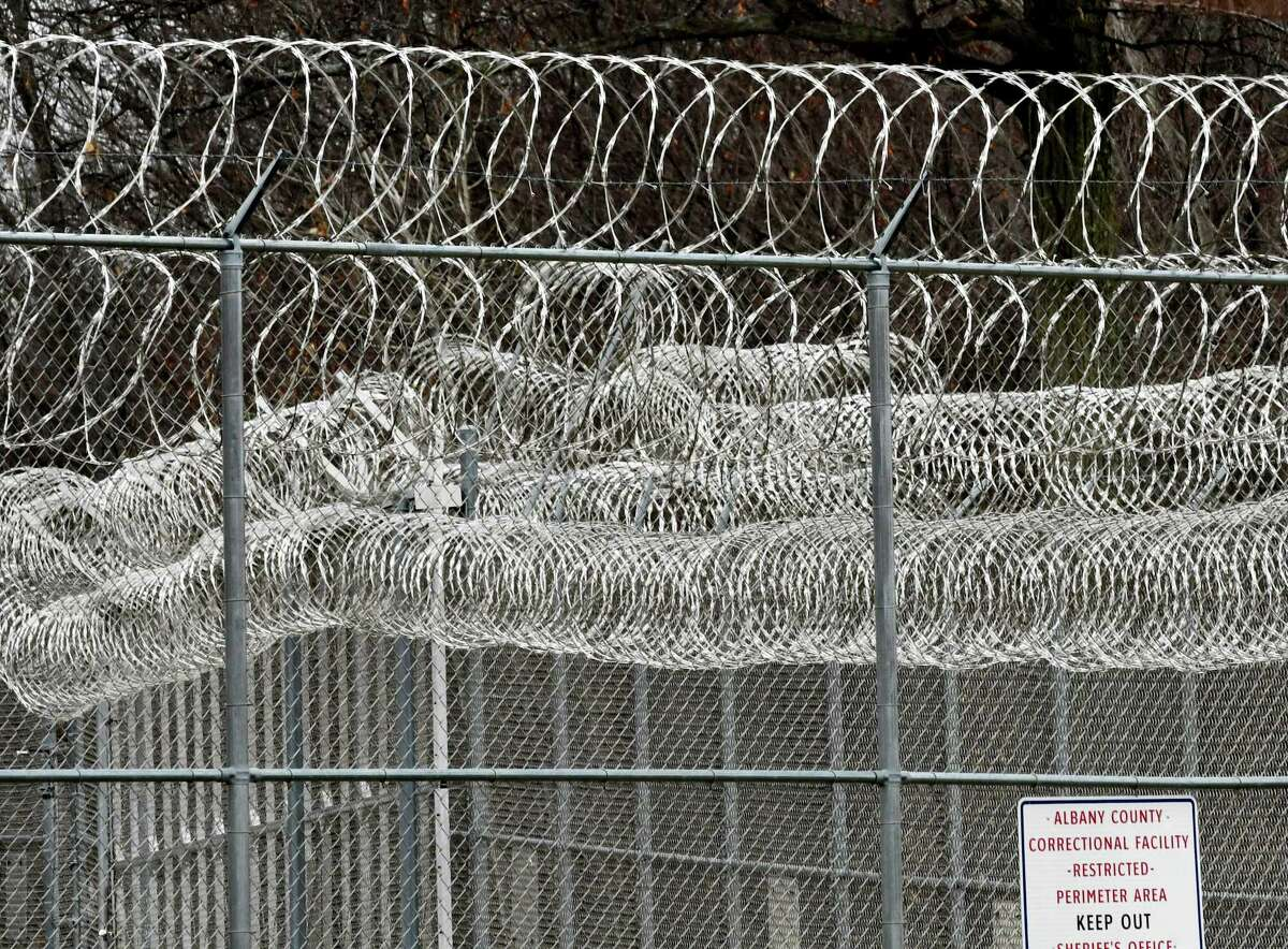 Concertina wire surrounds the Albany County Correctional Facility on Thursday, Feb. 7, 2019, in Colonie, N.Y. (Will Waldron/Times Union)
