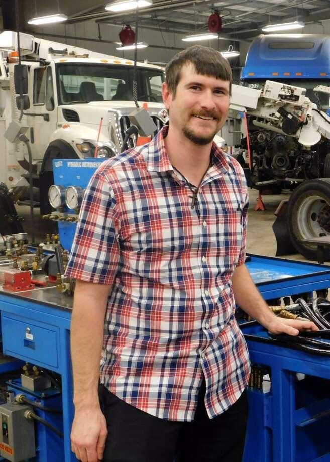 Brandon Foster is Texas State Technical College in Fort Bend County's newest Diesel Equipment Technology instructor. Photo: Texas State Technical College