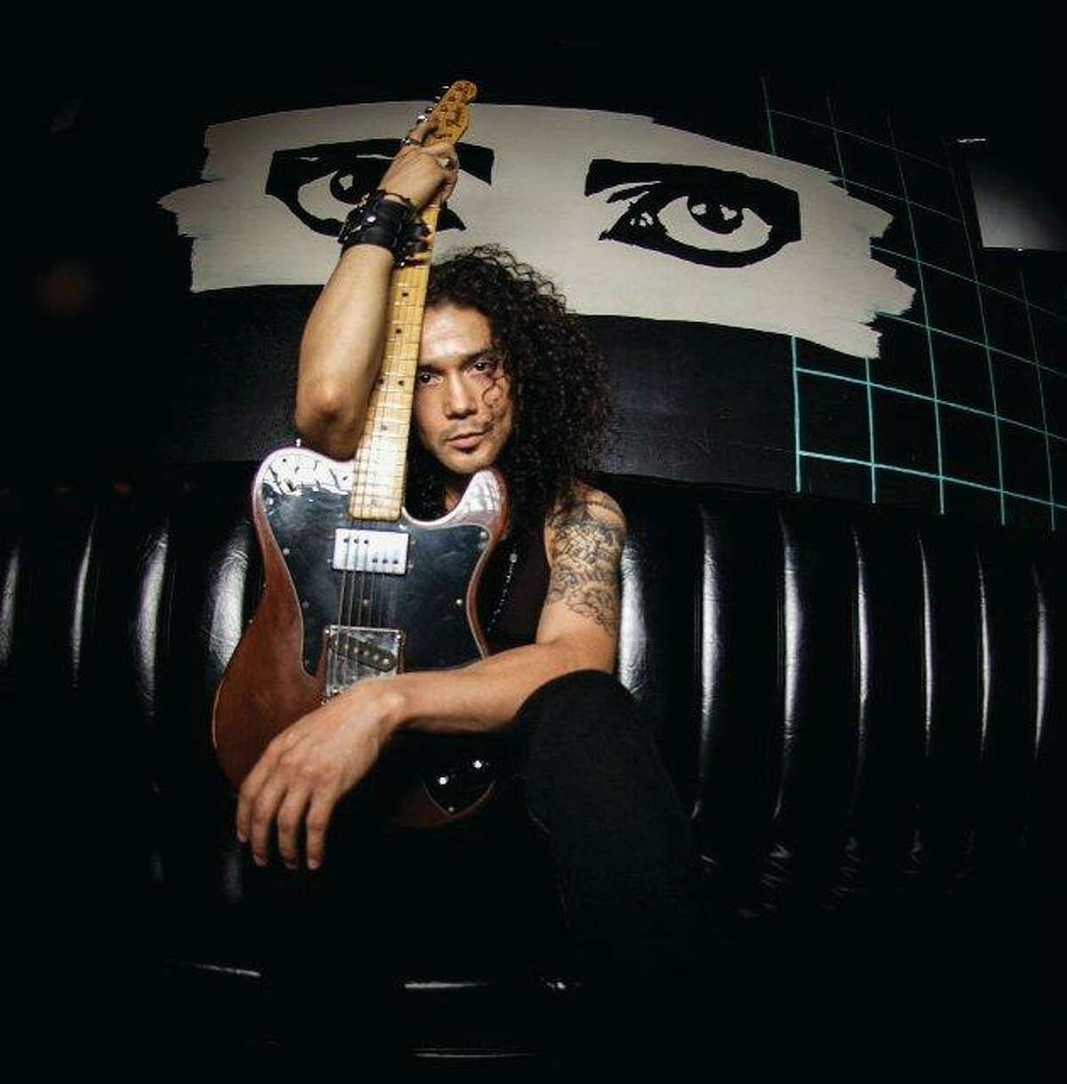 Chris Perez shared a special shot taken during his performance near Selena's hometown on Saturday.