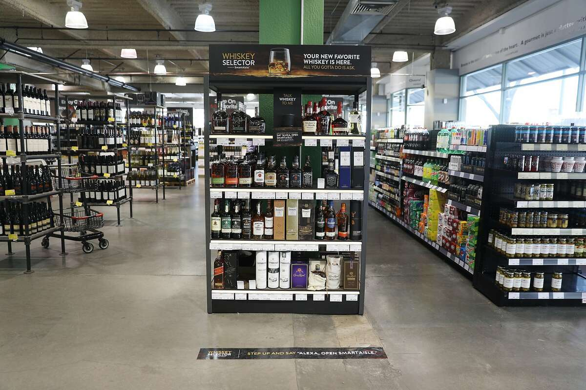 BevMo!'s SmartAisle whiskey selector is seen on Wednesday, February 6, 2019 in Oakland, Calif.