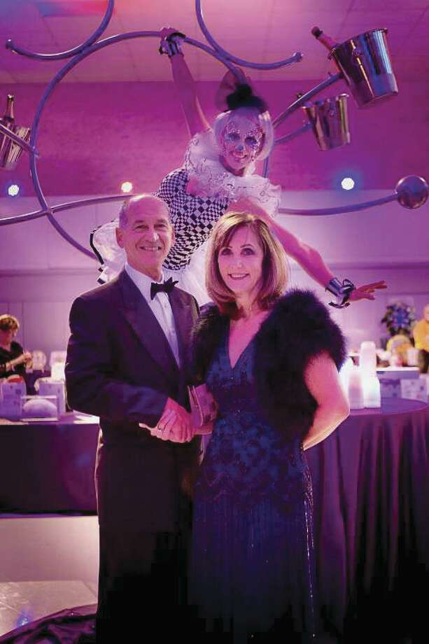 Eileen Hartman sponsored the fundraising event, and Keith Kaposta attended as her guest.