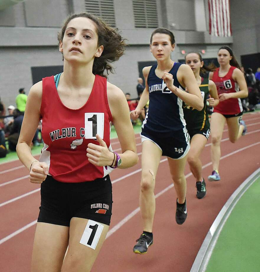 Wilbur Cross' Grace Adolphe is the top seed in the 1000 entering Friday's Class L track championship. Photo: Catherine Avalone / Hearst Connecticut Media / New Haven Register