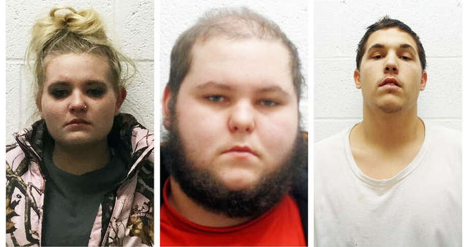 From left, Gleason, Parker and Panzier Photo: Courtesy, South Roxana Police Department