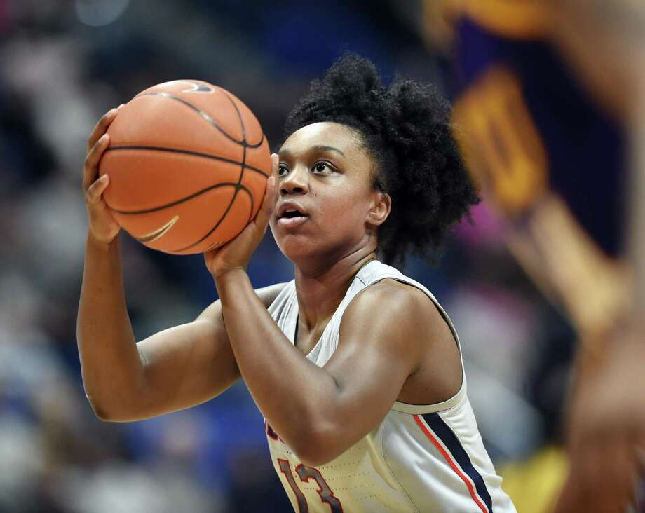 UConn freshman guard Christyn Williams had 19 points in a win over South Carolina Monday night. Photo: Stephen Dunn / Associated Press / Copyright 2019 The Associated Press. All rights reserved