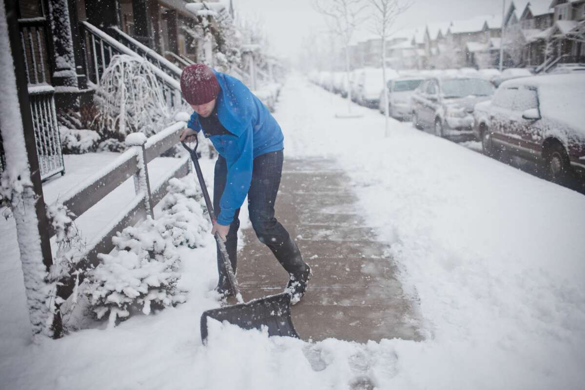 It's your responsibility to shovel the sidewalk If you own a home or business, not only do you need to shovel your own driveway, but you are also responsible for the adjacent sidewalks. The city (or governing agency) will take care of the streets (as they can).