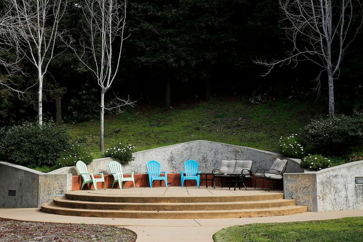 The courtyard at the Hummingbird Psychiatric Respite Navigation Center at San Francisco General Hospital on Thursday, Feb. 7, 2019, in San Francisco, Calif.