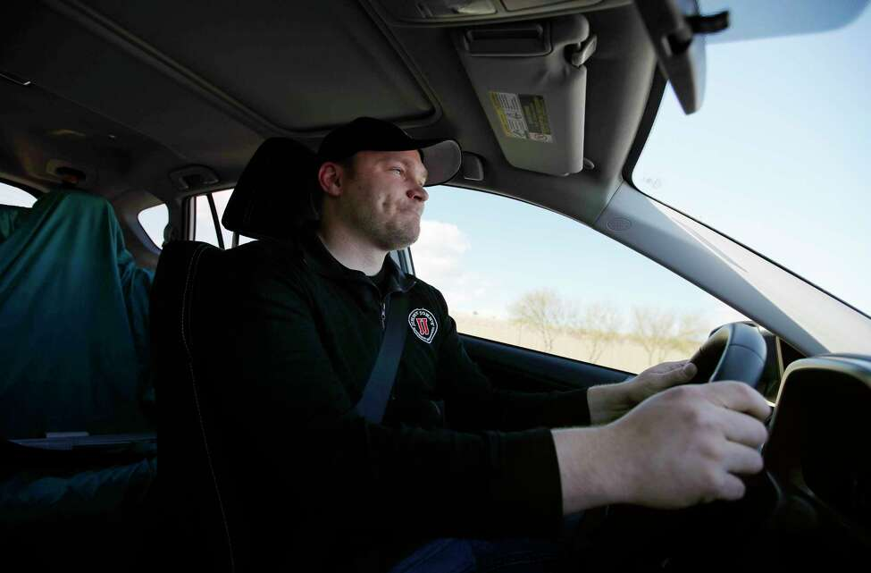 In this Wednesday, Feb. 6, 2019, photo, Tyler Schwecke, a delivery driver for Jimmy John's, makes a delivery in Las Vegas. Food delivery services like Uber Eats and GrubHub are taking off like a rocket, but some restaurants aren't on board. This week, Jimmy John's sandwich chain launched a national ad campaign promising never to use third-party delivery. (AP Photo/John Locher)