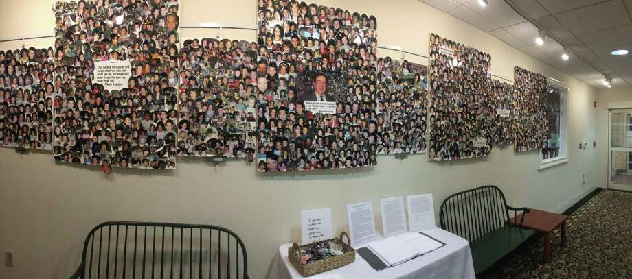 """For the month of February, the Acton Public Library in Old Saybrook is showing Salvatore Perruccio's """"Wall of Fame"""" in its atrium gallery. Photo: Contributed Photo"""