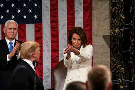 House Speaker Nancy Pelosi (D-Calif.) applauds during President Donald Trump's State of the Union address, at the Capitol in Washington, Feb. 5, 2019. When Pelosi clapped as Trump gave his address on Tuesday night, many social media users declared her the queen of shade. (Doug Mills/The New York Times)