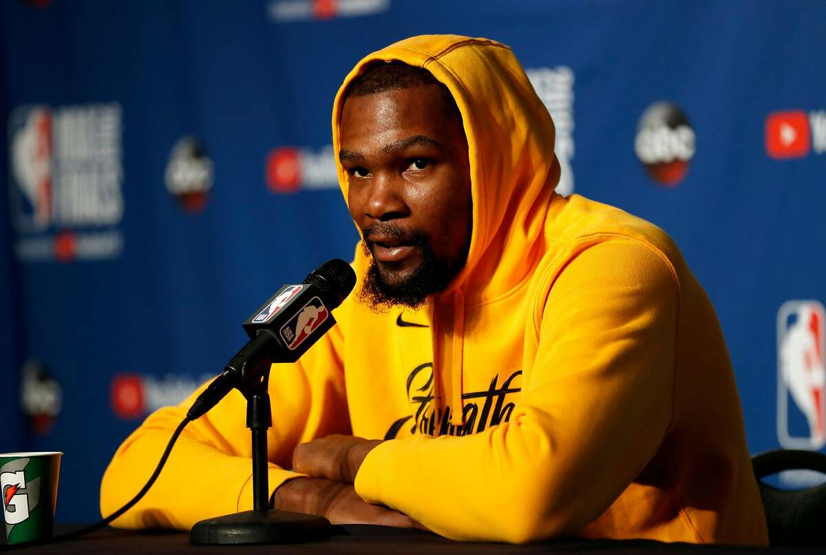 KD's free agency plans One of the most persistent stories throughout the regular season has been speculation, predictions, and questions about whether or not Kevin Durant will exercise his one-year option to stay with the Warriors after the end of the 2018-19 season. There have been rumors about him joining the New York Knicks, Los Angeles Lakers, and Boston Celtics over the course of the season, none of which KD has confirmed. The media's nagging over where he'll be next season has actually caused problems between him and members of the press (more on that later).