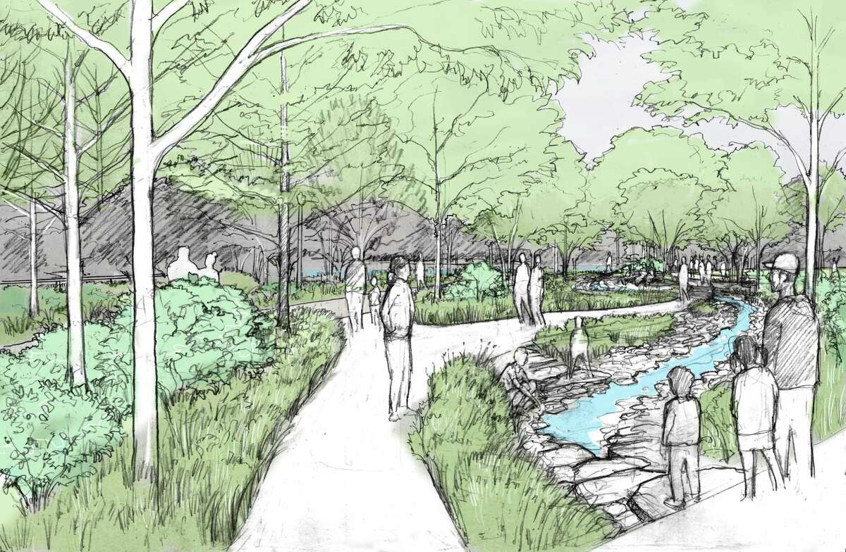 A water garden is among the features planned for Hermann Park Commons.