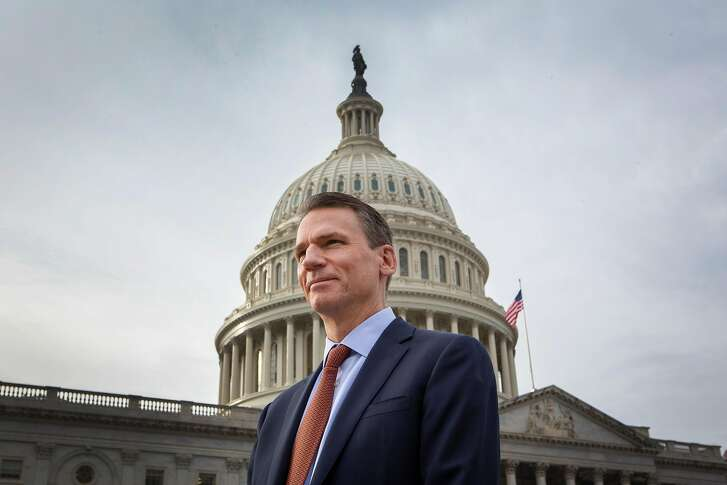 Alastair MacTaggart, a lobbyist for strong internet privacy laws, is photographed outside of the U.S. Capitol in Washington, D.C. on February 6, 2019.