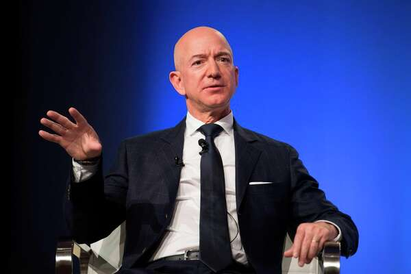 Jeff Bezos provides the keynote address at the Air Force Association's Annual Air, Space & Cyber Conference last September.