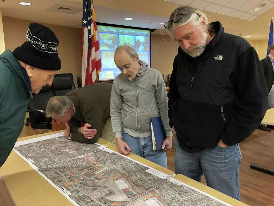 A future trail on the open space property in the Greenbrier subdivision could connect with a proposed route for the extension of the Sue Grossman Trail into downtown Torrington. Photo: Leslie Hutchison / Hearst Connecticut Media