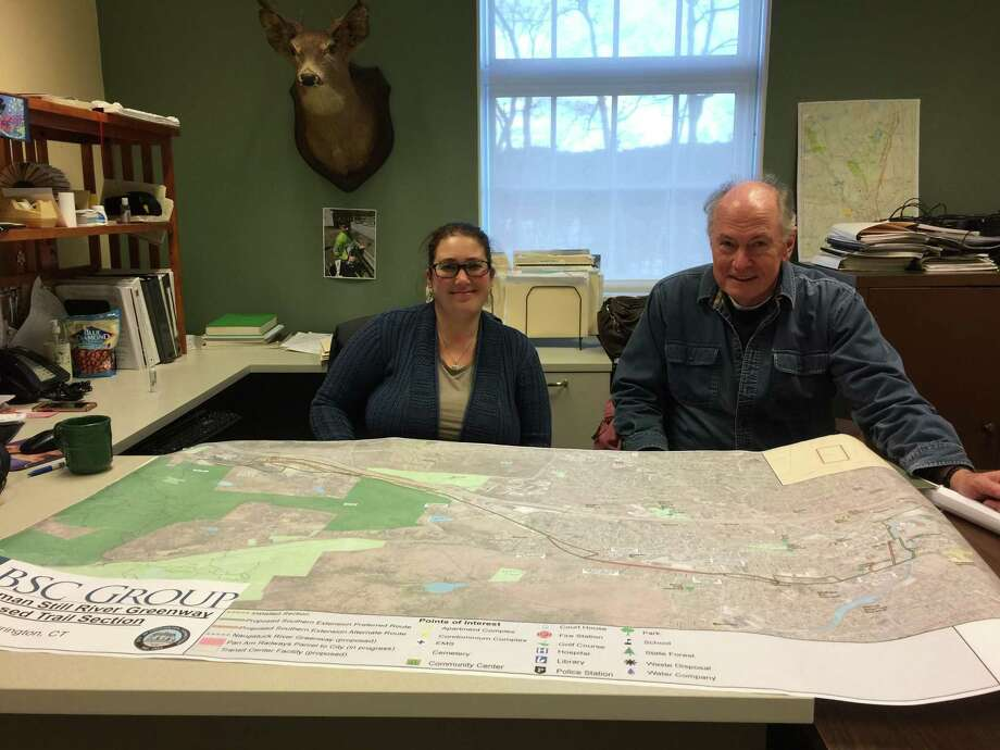 Former Zoning and Wetlands Enforcement officer Rista Malanca is pictured with Torrington Trails Network member Mark Linehan. Malanca, a resident of Winchester, was recently named Torrington's Director of Economic Development. Photo: Ben Lambert / Hearst Connecticut Media /