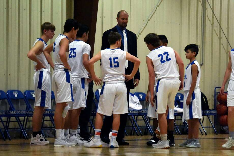 The Plainview Christian Academy Eagles basketball team fell to the Wichita Christian Stars, 62-26, to end the season on Thursday night in Plainview. Photo: Claudia Lusk/Plainview Herald