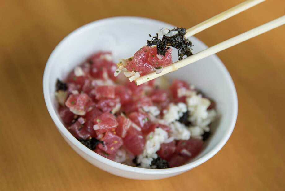 Nobu Houston expands its service to include lunch beginning Feb. 15 with new dishes created specifically for Houston served exclusively at lunch (served Friday, Saturday and Sunday). Shown: Tuna chirashi bowl. Photo: Rick Kern / RICK KERN 2019