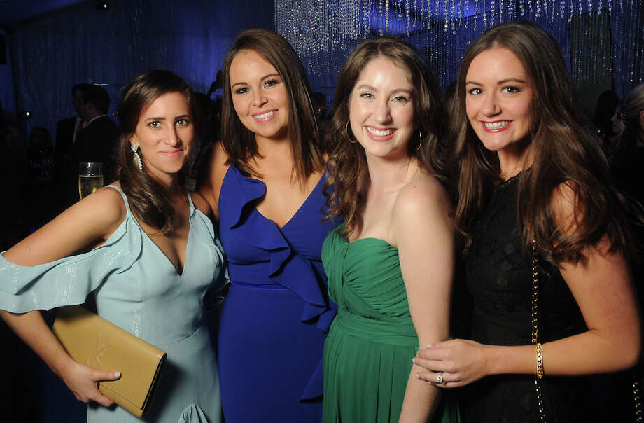 From left: Katia Basley, Brooke Stelzel, Shannon Adamczyk and Sarah Starling at the Junior League of Houston's Fire & Ice Ball Thursday Feb. 7, 2019. Photo: Dave Rossman, Contributor / 2019 Dave Rossman