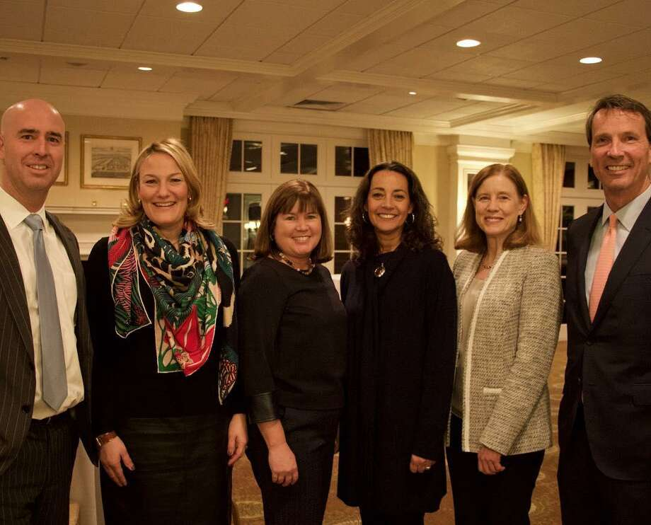 We are honored to welcome seven new members to our Board of Directors. Pictured left to right: John Maus, Shari Aser, Laura Erickson, Karen Oztemel with Board Chair Anne Sherrerd and CEO David Rabin. Not pictured are Debra Hess, Nicole Kwasniewski, and Lisa Lori. Photo: Greenwich United Way /