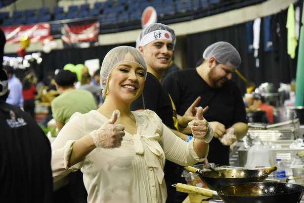 The Sames Auto Arena hosted the Taste of Laredo, where community members could eat samples of popular restaurants, listen to live music and compete in food eating competitions, Thursday, February 7, 2019.