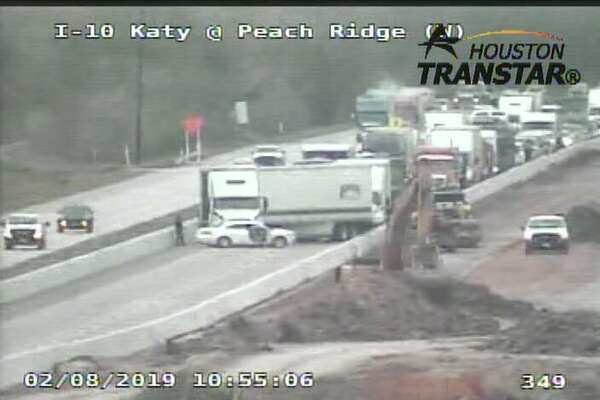 Big rig crash closes westbound lanes of Interstate 10 in
