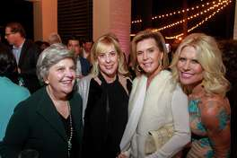 """EMBARGOED FOR SOCIETY REPORTER UNTIL FEB. 10 Dona Clay, from left, Kathy Boyd, Trish Millard and Catherine Badger at the Memorial Park Conservancy's """"Picnic For the Park,"""" at The Forest Club."""