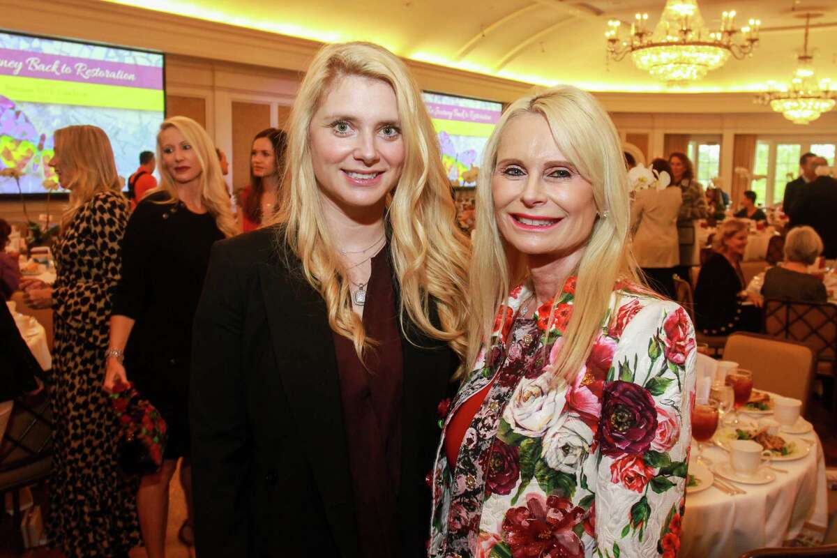 Christine Falgout, left, and Jo Lynn Falgout at Arrow Place's Freedom to Fly Luncheon at River Oaks Country Club.