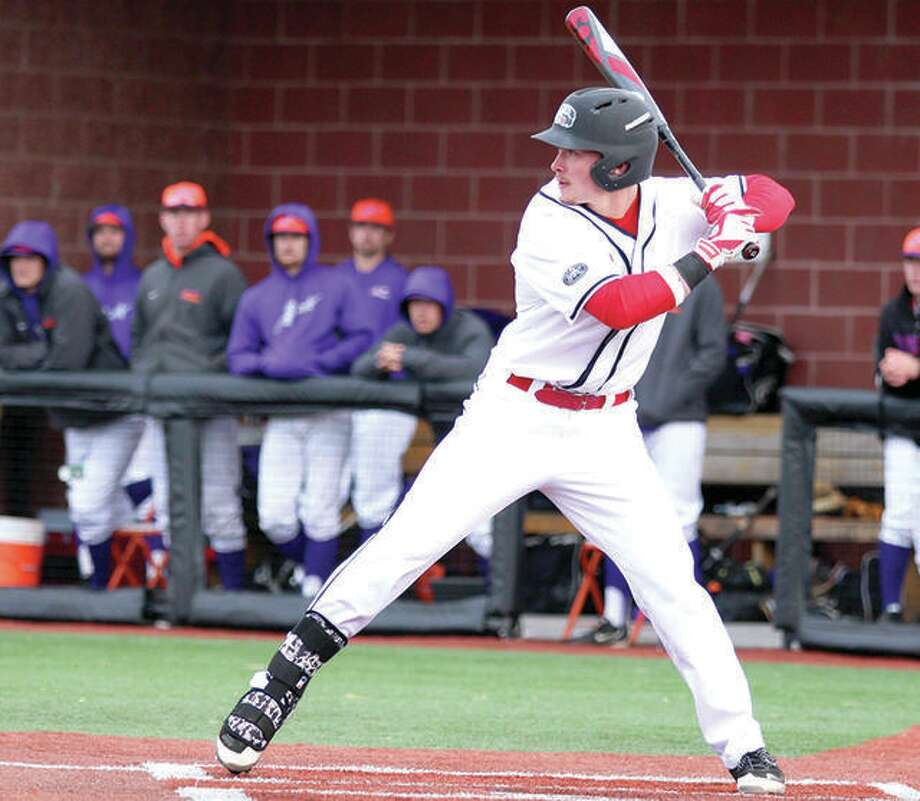 SIUE's Dustin Woodcock returns this season as a redshirt senior. Last season, Woodcock played in only one game before suffering an injury. In 2017, he hit .330 with 14 doubles and 42 RBI. Photo: SIUE Athletics