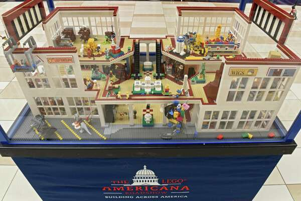 A mall brickscape is one of the displays at the LEGO Americana Roadshow at Crossgates Mall on Friday, Feb. 8, 2019 in Guilderland, N.Y. The larger than life LEGO replicas of some of America?•s most well-known and beloved architectural structures will be on display February 9-24. (Lori Van Buren/Times Union)