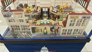 A mall brickscape is one of the displays at the LEGO Americana Roadshow at Crossgates Mall on Friday, Feb. 8, 2019 in Guilderland, N.Y. The larger than life LEGO replicas of some of AmericaÕs most well-known and beloved architectural structures will be on display February 9-24. (Lori Van Buren/Times Union)