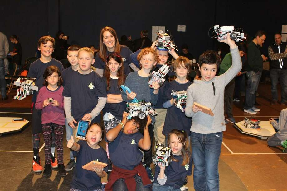 Students competed last year in the first ever Indy SumoBot League Tournament. Greenwich Country Day School, the Long Ridge School in Stamford, Conn. and Hackley School in Tarrytown, NY will compete Saturday in the second competition, which was designed for students from grades 3 to 9 in independent schools to improve their robot building skills. Photo: Contributed