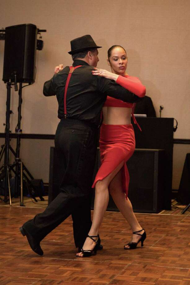 Manny Correia dances with pro Angelique Picart. Photo: Aydin Mayers / Contributed Photo / ©Aydin Mayers Photography 2017