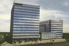 Renderings filed by Charter Communications and developer Building and Land Technolody show plans for a second building, this one nine stories, on the Gateway site where its new headquarters is rising just south of Interstate-95.