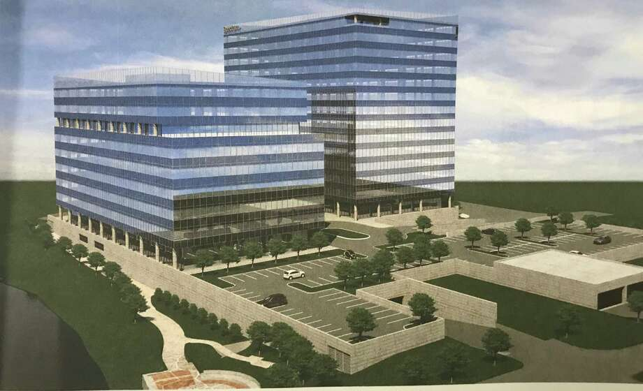 Renderings filed by Charter Communications show plans for a second building, this one nine stories, on the Gateway site where its new headquarters is rising just south of Interstate-95. Photo: Contributed Photo / Stamford Advocate  contributed