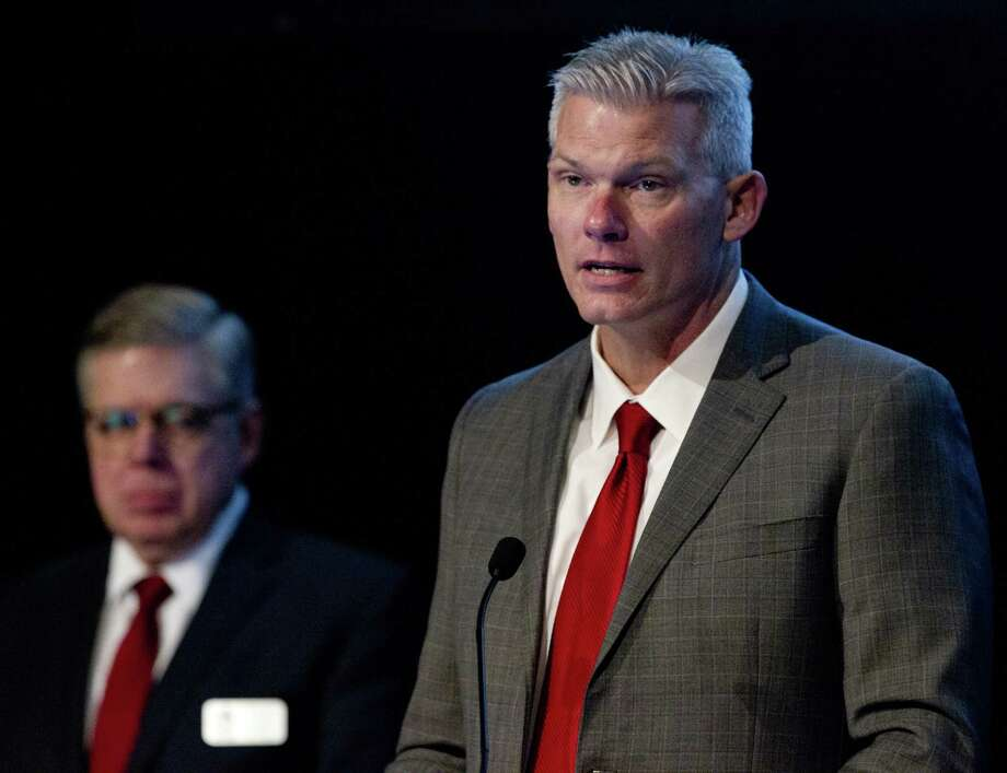 J.J. Hollie, president and CEO of The Woodlands Area Chamber of Commerce, during The Woodlands Economic Outlook Conference, Friday, Feb. 8, 2019, in The Woodlands. Photo: Jason Fochtman, Houston Chronicle / Staff Photographer / © 2019 Houston Chronicle