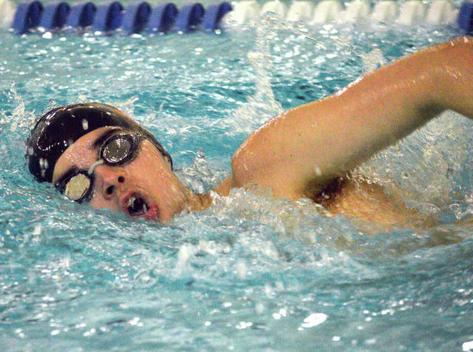 Trent Sholl of Edwardsville posted won the 200-yard freestyle and the 500-yard freestyle at Thursday's Southern Illinois Boys Championships at the Chuck Fruit Aquatic center. Photo: File Photo