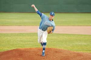 Friendswood's Bradley Wilcott (19) brings reliable pitching to the Mustang staff.