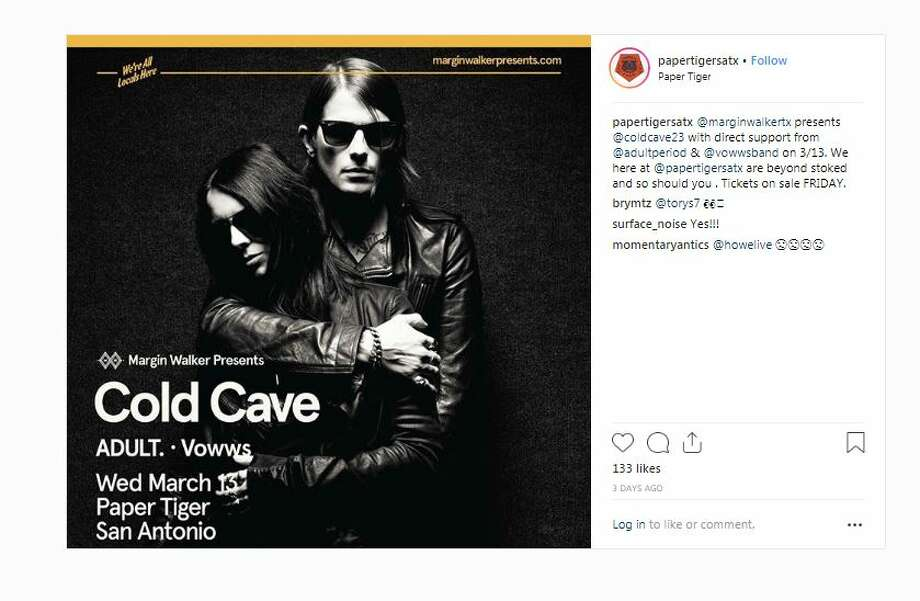 Cold Cave is playing Paper Tiger on March 13 with guests ADULT. and Vowws. Photo: Paper Tiger