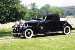 Records show that the Cadillac was brown when it left the factory and its leather upholstery matches the light-gray pinstriping. (Motor Matters photo)
