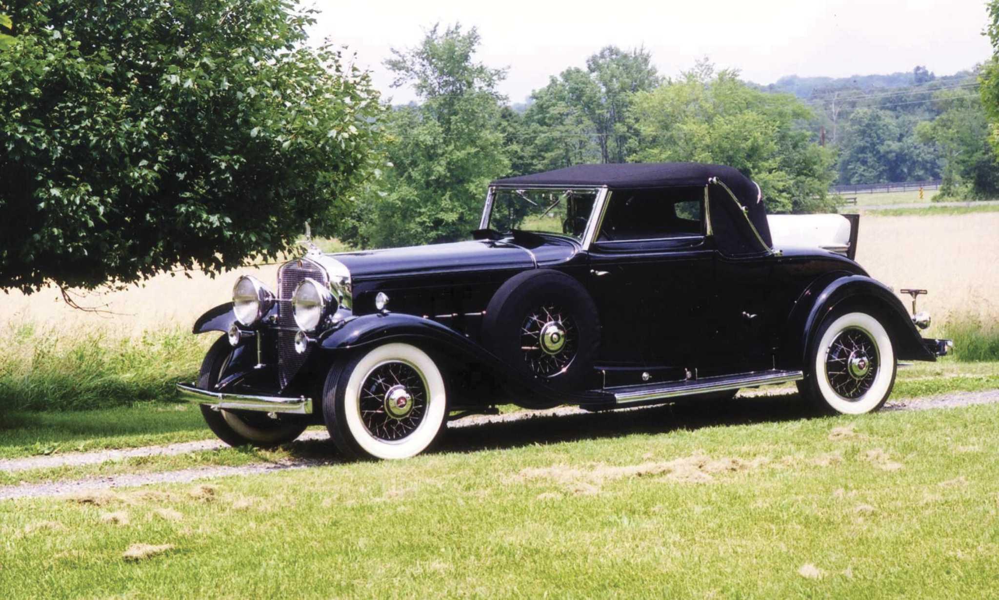 1931 Cadillac convertible coupe has V-16, golf bag doors