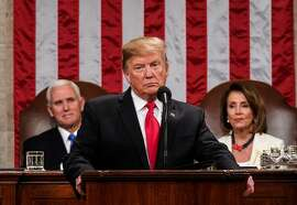 US President Donald Trump delivers the State of the Union address at the US Capitol in Washington, DC, on February 5, 2019. (Photo by Doug Mills / POOL / AFP)DOUG MILLS/AFP/Getty Images