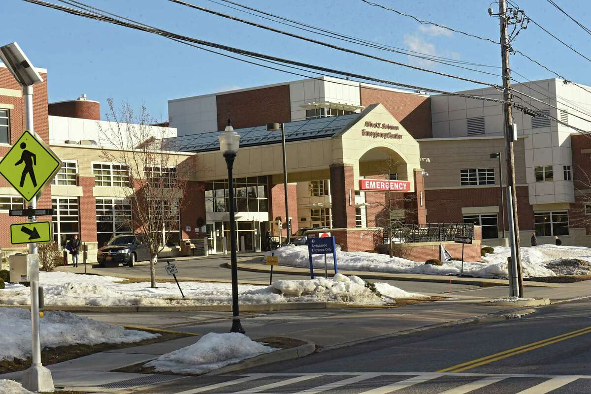 Exterior of Saratoga Hospital on Friday, Feb. 8, 2019 in Saratoga Springs, N.Y. The city will be considering changing zoning for Saratoga Hospital expansion. (Lori Van Buren/Times Union)