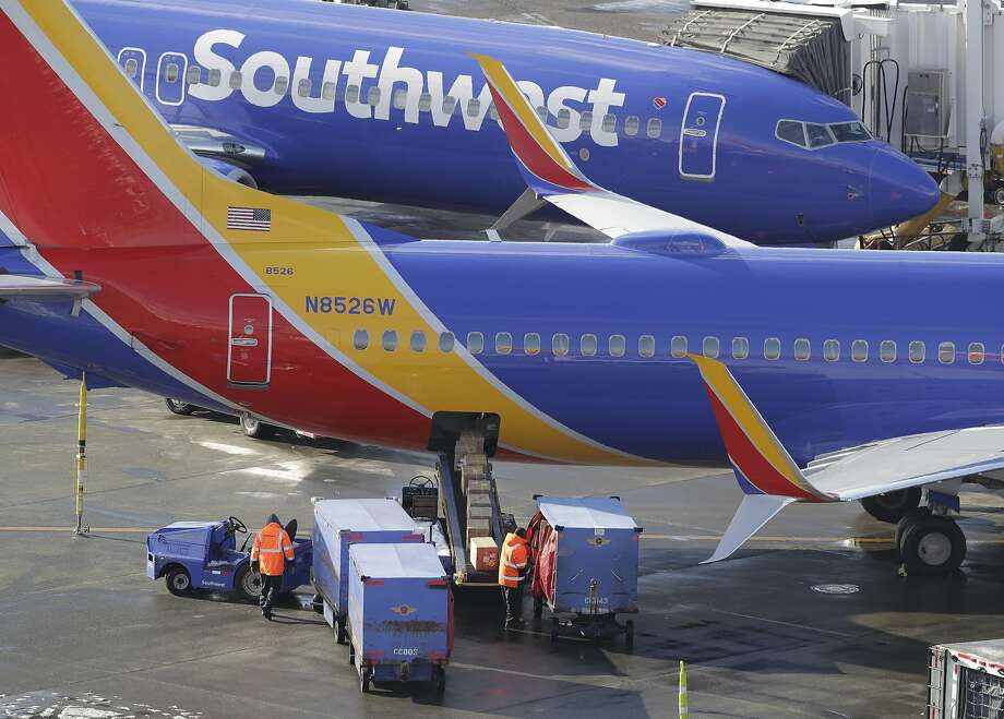 Southwest Airlines planes are loaded Tuesday, Feb. 5, 2019, at Seattle-Tacoma International Airport in Seattle. (AP Photo/Ted S. Warren) Photo: Ted S. Warren, Associated Press