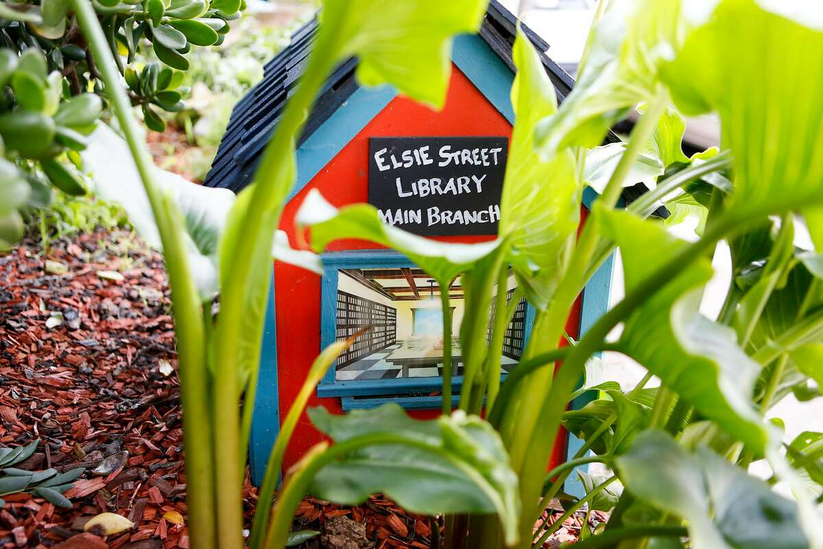 Marc Coronado's small neighborhood library box on Thursday, February 7, 2019 in Bernal Heights San Francisco, Calif.